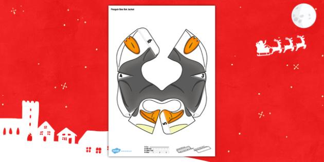 Christmas Penguin Bee-Bot Jacket - program, programming, robot, toy, cover, model, computing, it, ict, fun, interactive, change, add, topic,