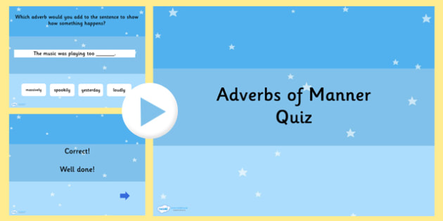 Using Adverbs of Manner SPaG Grammar PowerPoint Quiz - SPaG