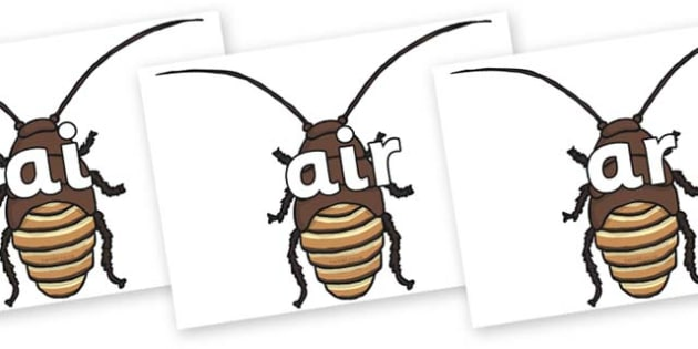 Phase 3 Phonemes on Cockroach - Phonemes, phoneme, Phase 3, Phase three, Foundation, Literacy, Letters and Sounds, DfES, display