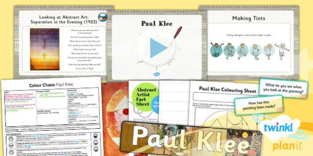 PlanIt - Art KS1 - Colour Chaos Lesson 3: Klee Lesson Pack