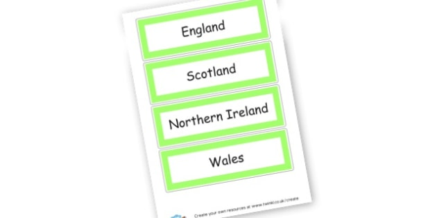 UK Word Cards