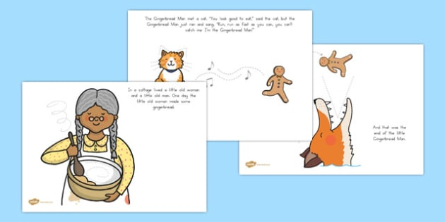 The Gingerbread Man Fine Motor Skills Story - pencil skills, pd, australia, traditional tales, ordering
