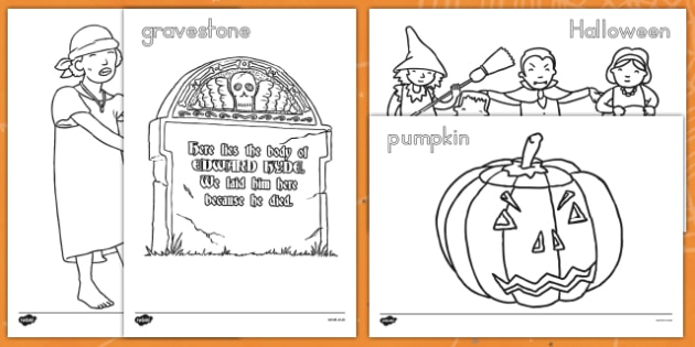 Halloween Colouring Pictures - america, halloween, coloring, pictures