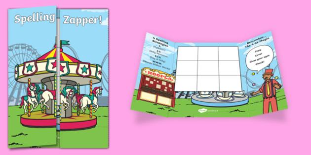 Funfair Themed Blank Spelling Zapper - spelling zapper, spell, spelling, zapper, dyslexic, dyslexia, learn, tricky words, personalise, words, blank, funfair
