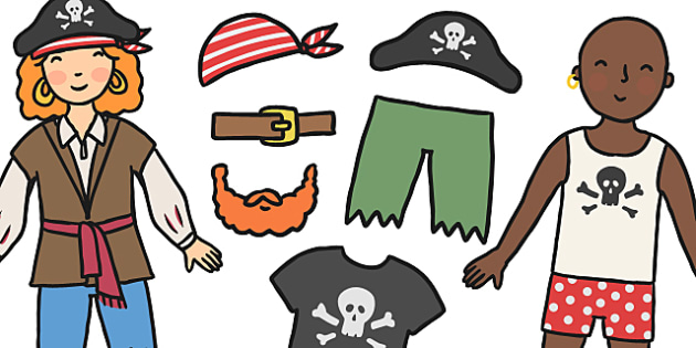 Dress Your Pirate Activity - pirates, pirate activity, pirate game, pirate dressing activity, dress up pirate, pirate dressing game, clothes, dressing