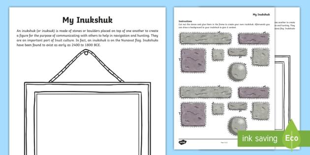 Build Your Own Inukshuk Activity - Canada, Inuit, Nunavut, Arctic, inukshuk, inuksuk, stones, boulders, communication, navigation, hunt