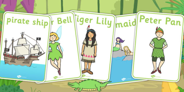 Peter Pan Display Posters - Peter, Pan, Poster, Tinkerbelle, Story