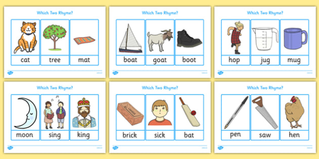 Which Two Rhyme? Activity - which, two, rhyme, matching, activity