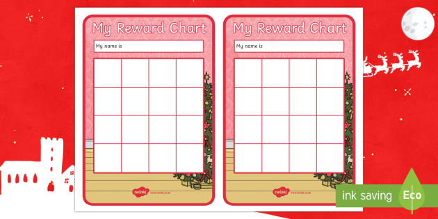 Christmas Themed Reward Chart - Christmas, Nativity, Jesus, xmas, Xmas, Father Christmas, Santa, St Nic, Saint Nicholas, traditions