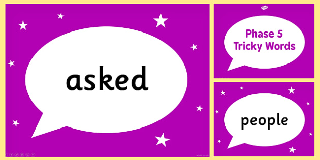 Phase 5 Tricky Words PowerPoint - phase 5, tricky, powerpoint