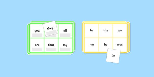 Phase 3 High Frequency Word Bingo - HFW, Word Bingo, Phase 3, Phase three, Foundation bingo, High Frequency Words, Letters and Sounds, DfES Letters and Sounds