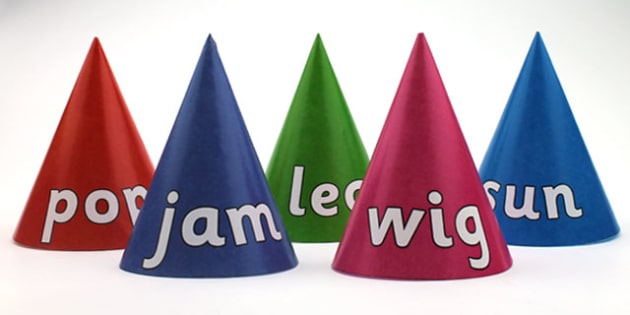 CVC Word Cones Mixed - visual aids, CVC words, word games
