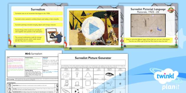 PlanIt - Art KS1 - Miro Lesson 2: Surrealism Lesson Pack - planit