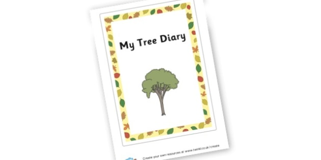 Tree - Writing Templates Diaries and Journals Primary Resources