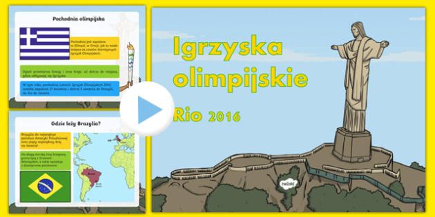 Prezentacja PowerPoint Igrzyska olimpijskie Rio 2016 po polsku