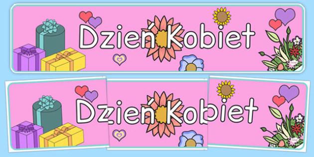 Akrusz Akrostych Dzień Kobiet po polsku - kobieta, wiersz