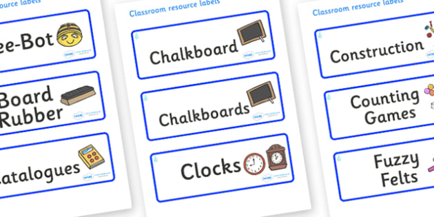 Raindrop Themed Editable Additional Classroom Resource Labels - Themed Label template, Resource Label, Name Labels, Editable Labels, Drawer Labels, KS1 Labels, Foundation Labels, Foundation Stage Labels, Teaching Labels, Resource Labels, Tray Labels,