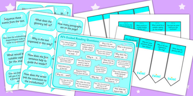 AF4 Guided Reading Resource Pack - AF4, guided reading, reading