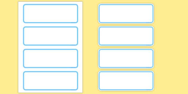 Editable Classroom Resource Labels (Blue) - Resource Labels, Label template, Editable Labels, Drawer Labels, KS1 Labels, Foundation Labels, Foundation Stage Labels, Teaching Labels, Resource Labels, Tray Labels, Printable labels Name Labels, Editable