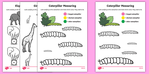 Colour by Size Activity Sheet Pack, worksheet