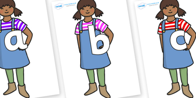Phoneme Set on Enormous Turnip Girl - Phoneme set, phonemes, phoneme, Letters and Sounds, DfES, display, Phase 1, Phase 2, Phase 3, Phase 5, Foundation, Literacy