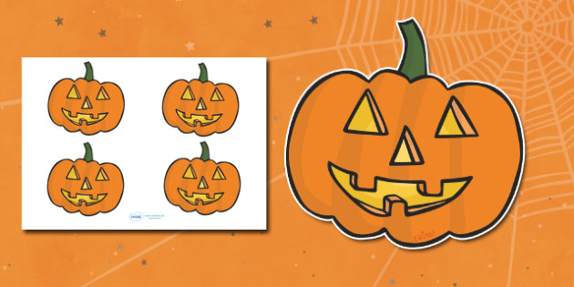 Editable Halloween Jack 'o' Lantern Pumpkin (Small) - Editable Halloween Kack o Lantern Pumpkin, small, display, poster, Halloween, pumpkin, witch, bat, scary, black cat, mummy, grave stone, cauldron, broomstick, haunted house, potion, Hallowe'en