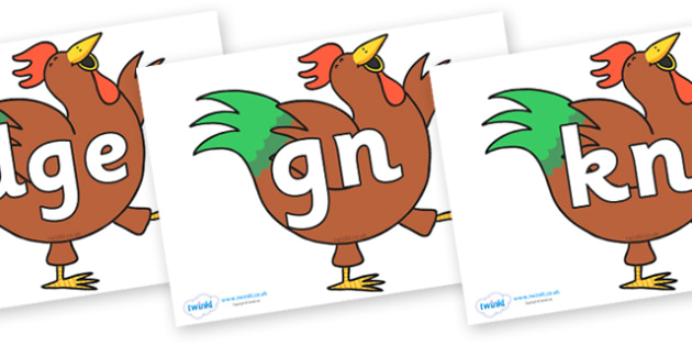 Silent Letters on Hullabaloo Rooster to Support Teaching on Farmyard Hullabaloo - Silent Letters, silent letter, letter blend, consonant, consonants, digraph, trigraph, A-Z letters, literacy, alphabet, letters, alternative sounds