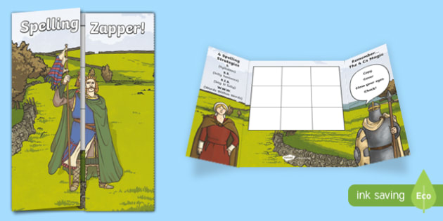 Anglo Saxon Themed Blank Spelling Zapper - spelling zapper, spell, spelling, zapper, dyslexic, dyslexia, learn, tricky words, personalise, words, blank, anglo saxon