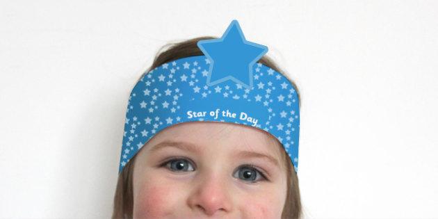 Star of the Day Award Headbands - awards, rewards, certificate