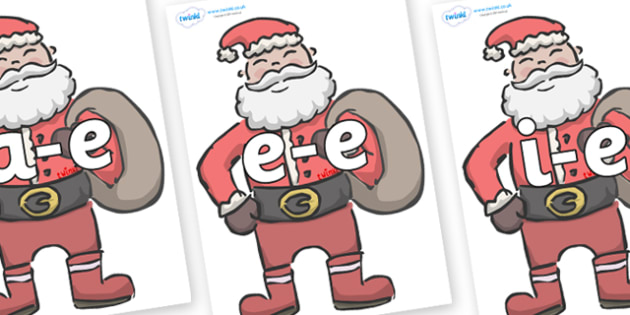 Modifying E Letters on Santas - Modifying E, letters, modify, Phase 5, Phase five, alternative spellings for phonemes, DfES letters and Sounds