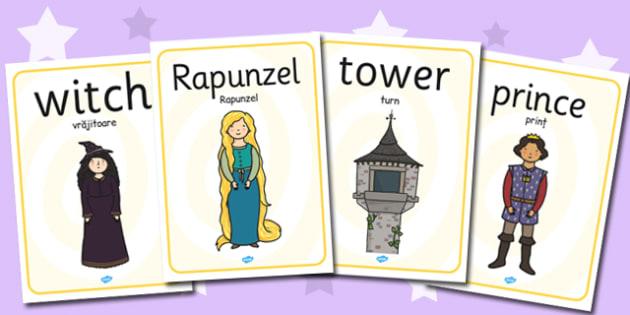 Rapunzel Display Poster Romanian Translation - romanian, rapunzel