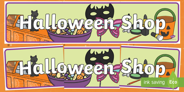 Halloween Shop Display Banner