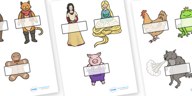 Traditional Tales Themed Self Registration - traditional tales, self registration, self reg, daily routine, pupil registration, themed self registration