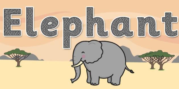 'Elephant' Display Lettering - safari, safari lettering, safari display lettering, safari display words, elephant display lettering, elephant letters