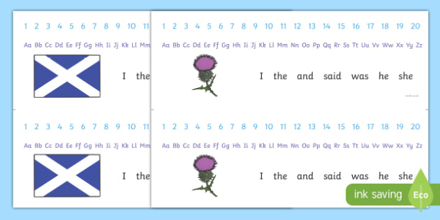Saint Andrew's Day Number and Alphabet Strips