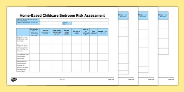 Home-Based Childcare Bedroom Risk Assessment