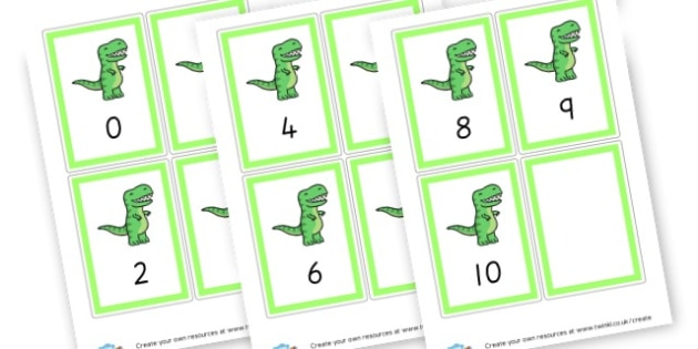 Number Cards - 1-10 (Green) - Maths Primary Resources, maths games, numbers, counting, money, NUMRCEY