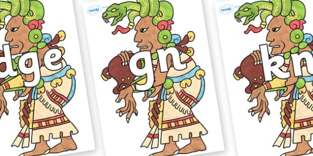 Silent Letters on Ix Chel - Silent Letters, silent letter, letter blend, consonant, consonants, digraph, trigraph, A-Z letters, literacy, alphabet, letters, alternative sounds