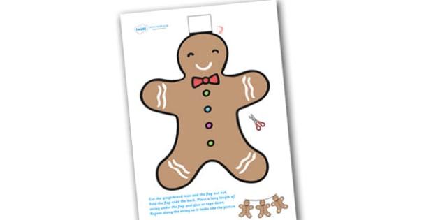 Gingerbread Man Christmas Themed Bunting - christmas, bunting