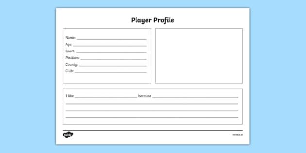 GAA Player Profile English - ireland, gaa, player, profile, factfile, worksheet, favourite, display, english