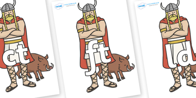 Final Letter Blends on Vikings - Final Letters, final letter, letter blend, letter blends, consonant, consonants, digraph, trigraph, literacy, alphabet, letters, foundation stage literacy