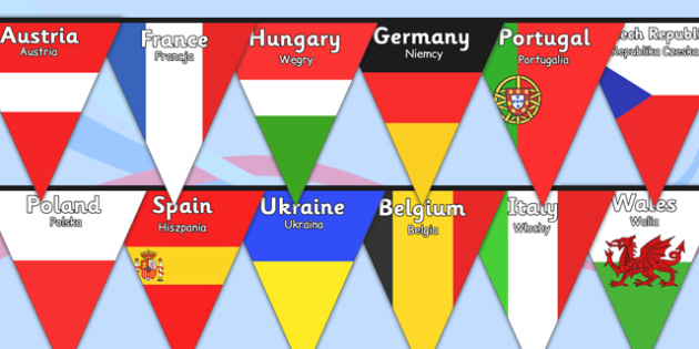 Euro 2016 Country Flag Bunting Polish Translation - polish, euro 2016, football, euro, 2016, country, flag, bunting