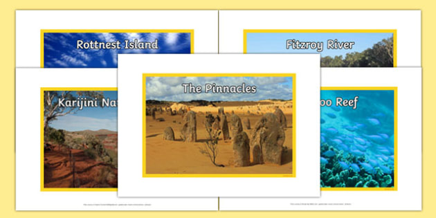 Western Australia Natural Features Photo Pack - australia, rivers, lakes, mountains, natural, tourist attraction, landscape, landmark