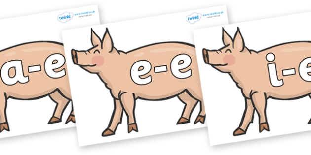 Modifying E Letters on Pigs to Support Teaching on Pig in the Pond - Modifying E, letters, modify, Phase 5, Phase five, alternative spellings for phonemes, DfES letters and Sounds