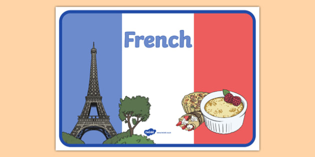 French Display Poster - france, mfl, culture, tricolour, europe, modern, foreign, language, display, ks1