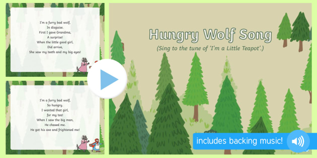 Hungry Wolf Song PowerPoint