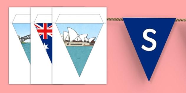 Sydney Australia Display Bunting
