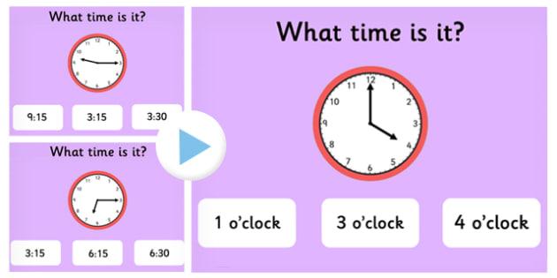 Clock Matching PowerPoint Game Version 1 - clock, clock matching, powerpoint, matching powerpoint, games, clock matching game, time, telling time, numeracy