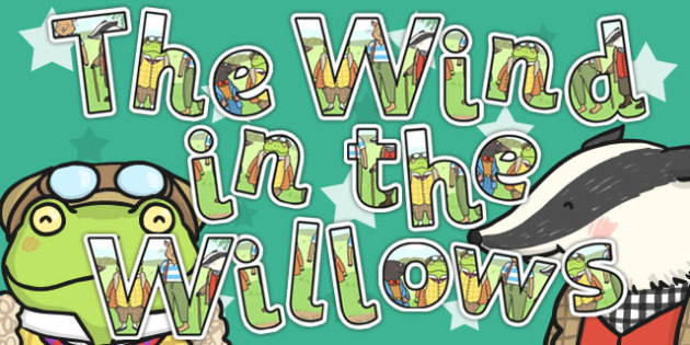 The Wind in the Willows Display Lettering - letters, displays
