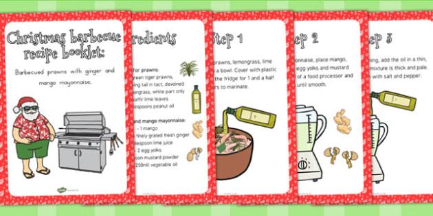 Christmas Barbecue Recipe Booklet - australia, christmas, recipe